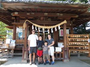 Visiting a Shinto shrine in Kawagoe