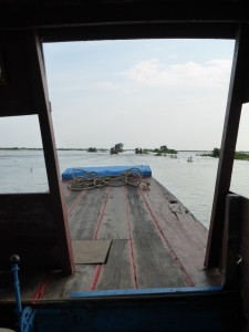 View from the front of the boat