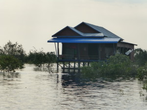 Home in the floating village of Kompong Phluk