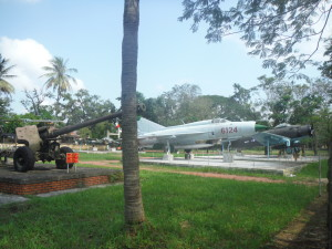 Captured military plane, Hue, Vietnam