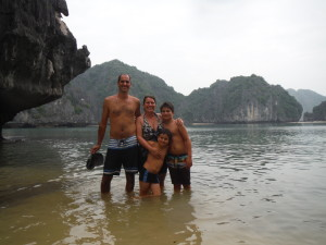 Hanging in Halong Bay