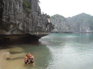 The fam, Halong Bay