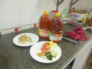 Ingredients for Ca Xao Ghua Ngot