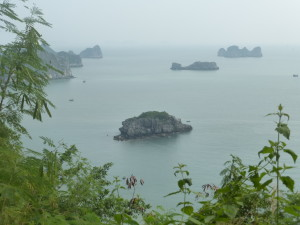 View into Halong Bay