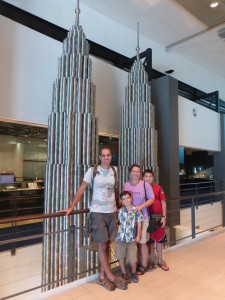Petronas Towers built with 7,000 pewter cups.