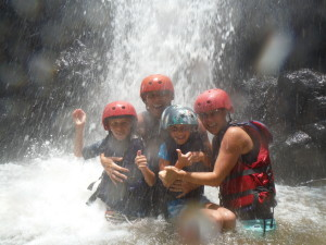 Australian Family under water