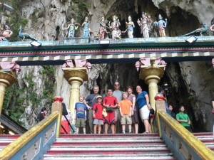 At the Batu Caves with new friends from Texas
