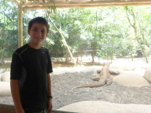Lorenzo did a report on Komodo Dragons at school last year so this was a highlight.
