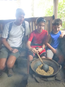 Traditional Balinese coffee roasting