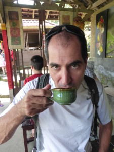 Tasting the Luwak coffee