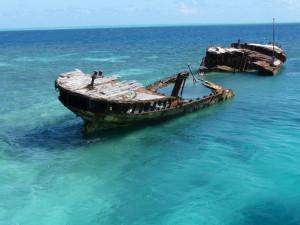 Shipwreck off of Heron Island