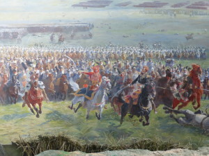 Part of a panoramic painting of the battle