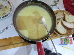 Gruyere cheese fondue