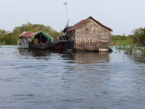 Home on stilts, built in a flood zone, Cambodia