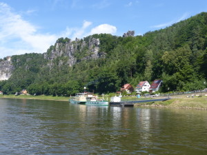 Ferry over the Elbe to the hike up