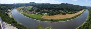 Elbe River, view from Sachsische Schweiz