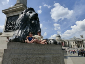 We have visited Trafalgar Square. In the center of the square is Horatio Nelson's column.