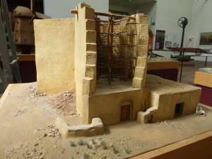 Model of Persian vertical axis windmill